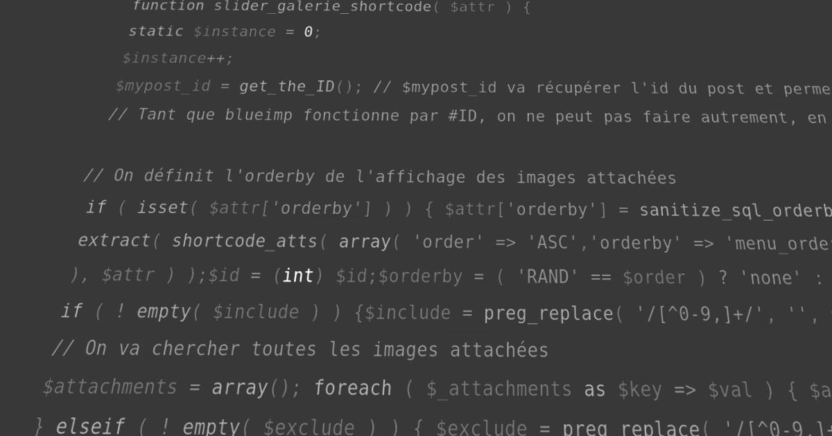 blueimp Gallery en shortcode dans le function.php de votre thème Wordpress