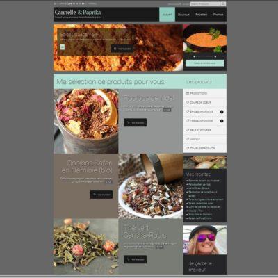 Cannelle & Paprika, vente en ligne d'épices, aromates, thés et tisanes